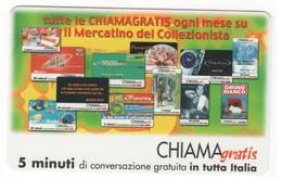 CHIAMAGRATIS IL MERCATINO DEL COLLEZIONISTA, NUOVA , 5 Minuti, Tiratura 50.000, Publicenter, 01/01/2001 - Unclassified
