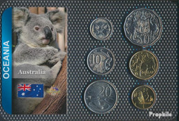 Australien Stgl./unzirkuliert Kursmünzen Stgl./unzirkuliert Ab 1999 5 Cents Bis 2 Dollars - Mint Sets & Proof Sets