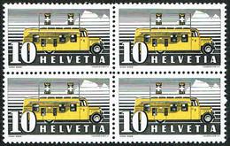 ** BLOC DE 4 TIMBRES NEUFS  PAPIER MELE BLEU & ROUGE 1937 C/.S.B.K. Nr:210y. Y&TELLIER Nr:302. MICHEL Nr:311y.** - Nuevos