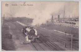 OSTENDE OOSTENDE - La Gare Maritime Train Locomotive Fumante - Oostende