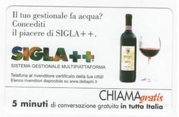 CHIAMAGRATIS SIGLA ++, USATA , 5 Minuti, Tiratura 12.500, Mantegazza, 15/08/2001 - Unclassified