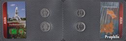 Turkmenistan 1999 Stgl./unzirkuliert Kursmünzen 1999 500 Bis 1.000 Manat - Turkmenistan