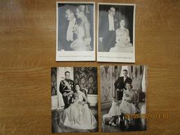 Prince Rainier III De Monaco En Grace Kelly   Lot Van 4 Postkaarten - Entertainers