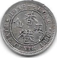 *hong Kong 5 Cents 1886  Km 5 - Hongkong