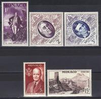 Monaco Timbres  N° 444 N° 445 N° 446 N° 447 N° 448  Neufs Neuf ** Exposition Philatelique Internationale De New York - Unused Stamps