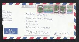Saudi Arabia Air Mail Postal Used Cover Al MAHD To Pakistan - Saudi Arabia