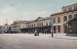 481873Utrecht, Station. (poststempel 1907)(zie Hoeken) - Utrecht