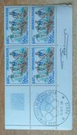 Bloc De 4 Timbres Jeux Olympique De Mexico N° 1573 De 1968 Avec Signature Du Graveur Betemps - Altri