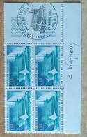 Bloc De 4 Timbres Pavillon De La France, Montréal N° 1519 De 1967 Avec Signature Du Graveur Durrens - Altri