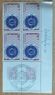 Bloc De 4 Timbres Lions Club N° 1534 De 1967 Avec Signature Du Graveur Durrens - Altri