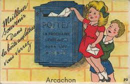 33 - ARCACHON - Carte à Sytème - Dans La Boîte Aux Lettres Vous Verrez Arcachon - Mechanical