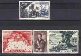 Monaco Timbres  N° 449 N° 450 à 452  Neuf * Avec Trace De Charnière Exposition Philatelique Internationale De New York - Unused Stamps