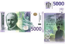SERBIA 5000 DINARA 2010 P 53 - UNC - Serbia