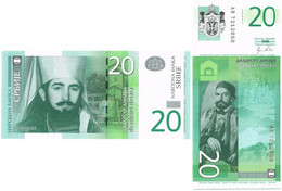 SERBIA 20 DINARA 2011 P 55a - UNC - Serbia
