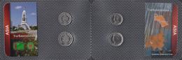 Turkmenistan 1999 Stgl./unzirkuliert Kursmünzen 1999 500 Until 1.000 Manat - Turkmenistan