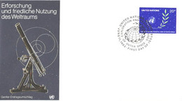 United Nation:FDC:Exploration Of Outer Space, 11.06.1982 - Briefe U. Dokumente