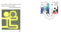 United Nation:FDC:International Year Of Disabled Persons, 06.03.1981 - Briefe U. Dokumente