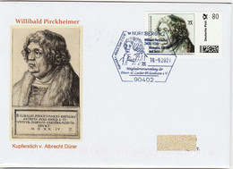 """Albrecht Dürer """"Gemälde Willibald Pirckheimer"""" ,Marke Individuell Auf Brief Sonderstempel - Unclassified"""