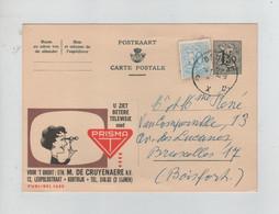 1440PR/ Entier CP Publibel 1625A + TP C.Brugge 1959 > BXL Boitsfort - Publibels