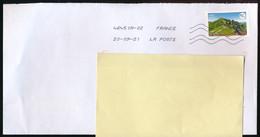 """Timbre Postal Adhésif (2021) """"Puy De Sancy, Terre De Tourisme, Site Naturel De France"""" Seul Sur Lettre - 1961-...."""
