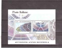 ITALIA 2000 AVVENTO ANNO 2000 LE GENERAZIONI LO SPAZIO NUOVO - Blocs-feuillets