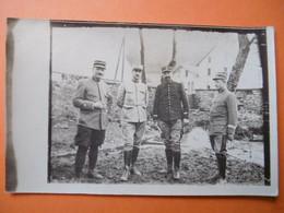 Environs De BELFORT  ( 90 ) CRAVANCHE - Carte Photo D'Officiers Militaires - 1915 - Altri Comuni