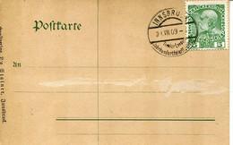 66412 Austria,festkarte Tiroler 100 Jahr 1809-1909,Innsbruck 21.VIII.1909 Andrea Hofer Denkmal  (see 2 Scan) - Brieven En Documenten