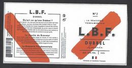 étiquettes De Bière Ambrée  -   LBF    -  Brasserie Rabourdin à  Courpalay  (77) - Beer