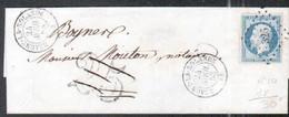Loiret, Y & T N°10, Obl Pc 326 Et Type 15 De Beaune La Rolande, Taxe DT Annulée - 1849-1876: Periodo Clásico