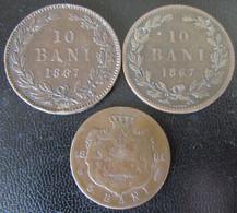 Roumanie / Romania - 10 Bani 1867 Heaton, Watt & Co + 5 Bani 1884 - Romania