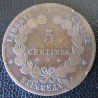 France - Monnaie 5 Centimes Cérès 1879 A Avec Ancre Barrée - C. 5 Centesimi