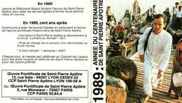 Petit Calendrier 1989   L'Oeuvre Pontificale De Saint-Pierre-Apôtre    Année Du CENTENAIRE - Small : 1981-90