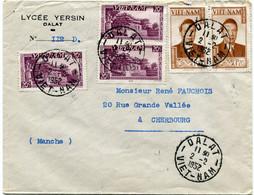 VIET-NAM LETTRE DEPART DALAT 2-2-1952 VIET-NAM POUR LA FRANCE - Vietnam