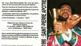 Petit Calendrier 1990   L'Oeuvre Pontificale De Saint-Pierre-Apôtre    Faites Ceci En Mémoire De Moi - Small : 1981-90