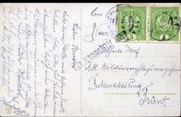 66415 Austria,circuled Card 1918 From Wien To Trient, Censured K.u.K.zensurstelle Bozen - Brieven En Documenten