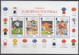 GIBRALTAR  Block 25, Postfrisch **, Fußball-Europameisterschaft, England, 1996 - Gibraltar