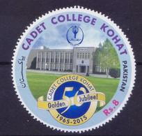 Pakistan 2015 MNH 1v, Odd Unusual Round Stamp, Cadet College - Andere
