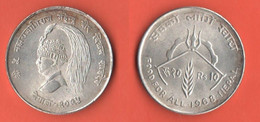 FAO Nepal 10 Rupie 1968  Rupees - Nepal