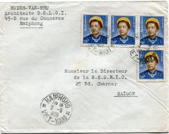 VIET-NAM LETTRE DEPART HAIPHONG 3-5-1954 VIET-NAM POUR LE VIET-NAM - Vietnam