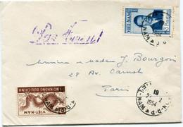 VIET-NAM LETTRE DEPART SAIGON 27-2-1954 VIET-NAM POUR LA FRANCE - Vietnam