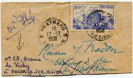VIET-NAM LETTRE DEPART NHATRANG 17-12-1952 VIET-NAM POUR LA FRANCE - Vietnam
