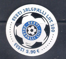 Estonia (2021) Centenary Of Estonian Football Association - Round Stamp In Silkscreen Printing [MNH] - Autres