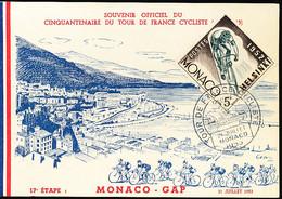MONACO 1953 CYCLISME TOUR DE FRANCE 1953 - Covers & Documents