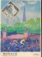 MONACO 1955 CYCLISME TOUR DE FRANCE 1955 - Covers & Documents