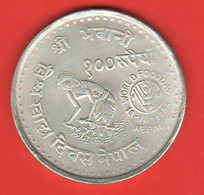 FAO Nepal 100 Rupie 1981 FAO Coin 100 Rupees Woorld Food Day - Nepal