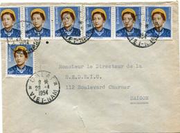 VIET-NAM LETTRE DEPART DALAT 29-4-1954 VIET-NAM POUR LE VIET-NAM - Vietnam