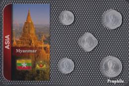 Myanmar 1966 Stgl./unzirkuliert Kursmünzen 1966 1 Pyas Bis 50 Pyas - Myanmar