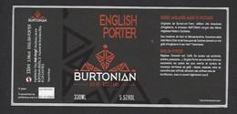 Etiquette De Bière English Porter   -  Brasserie Burtonian  à  Castres   (81) - Beer
