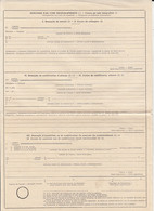8695FM- REQUEST FOR POSTAL SERVICES, UNUSED POSTAL OFFICE FORM, 1952, ROMANIA - Other