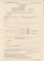 8697FM- REPORT ON THE USE OF ALLEGEDLY FRAUDULENT POSTAGE STAMPS, UNUSED POSTAL OFFICE FORM, 1952, ROMANIA - Other
